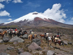 randonnée à cheval Equateur Cotopaxi photo 2