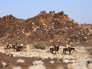 randonnée à cheval Namibie Damaraland photo 4